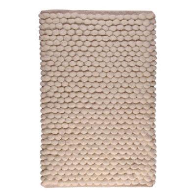 Tapete Baño Algodón Cubes 40x60 Blanco