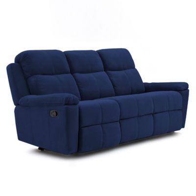 Sofá Reclinable 3 Puestos Marsella Tela 80x200x100 Azul