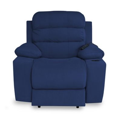 Reclinable Vibromasaje Houston Tela 90x95x100 Gris/Azul