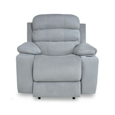 Reclinable Eléctrica + Usb Houston Tela 90x95x100 Gris Claro