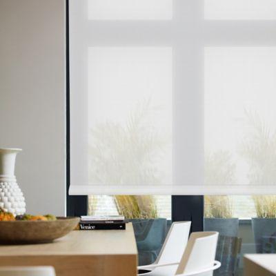 Enrollable Solar Screen 10 Blanco A La Medida Ancho Entre 180.5-200  cm Alto Entre  30-100 cm