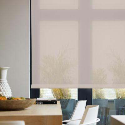 Enrollable Solar Screen 10 Crema A La Medida Ancho Entre 130.5-140  cm Alto Entre  200.5-220 cm