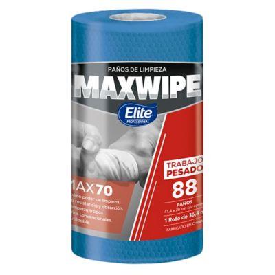 Maxwipe Rollo Max70 x88 Paños Azul Uso Mecanico