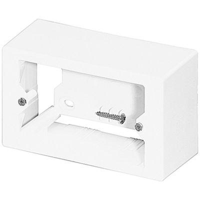 Paq x 5 Caja Superficie Plática Tipo Italiano Blanco