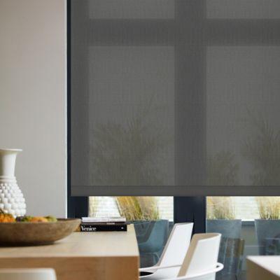 Enrollable Solar Screen 3 Charcoal A La Medida Ancho Entre 140.5-155  cm Alto Entre  30-100 cm