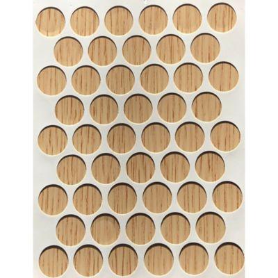 Caja x 2500 Tapatornillos Adhesivos de 14 mm Roble Mallado