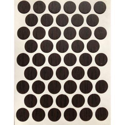 Caja x 2500 Tapatornillos Adhesivos de 14 mm Wengue
