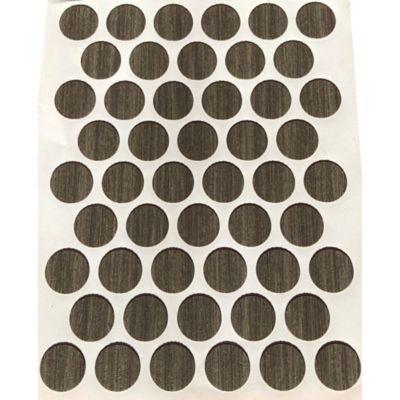 Paq x 50 Unds Tapatornillos Adhesivos de 14 mm Carbono