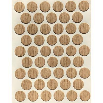 Paq x 50 Unds Tapatornillos Adhesivos de 14 mm Rustic Sand