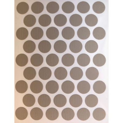 Paq x 50 Unds Tapatornillos Adhesivos de 14 mm Ámbar