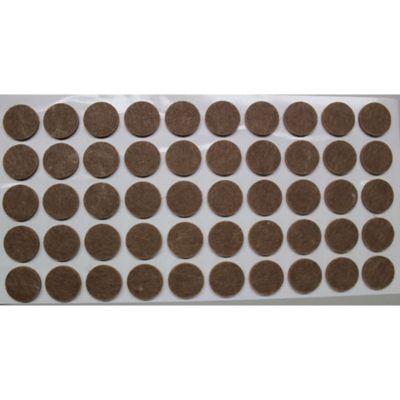 Fieltro Adhesivo 50 Círculos 20mm Marron