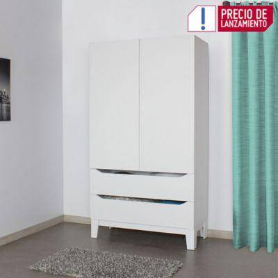Armario Polux 200.6x110x50cm Blanco M01522Cl-Bl