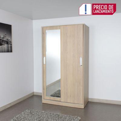 Armario Deneb 180x100x53.8cm Puerta Corredera Rovere Blanco M01520Cl-ROBL