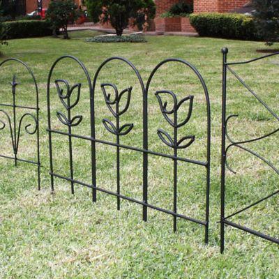 Minicerca Decorativa para Jardin Rosas 56 x 77 cm