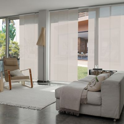 Cortina Panel Oriental Solar Screen 5 Beige A La Medida Ancho Entre 340.5-360  cm Alto Entre  240.5-260 cm