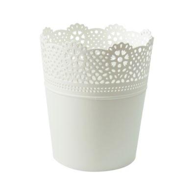 Maceta Lace 15.5 Cm Blanco Garden