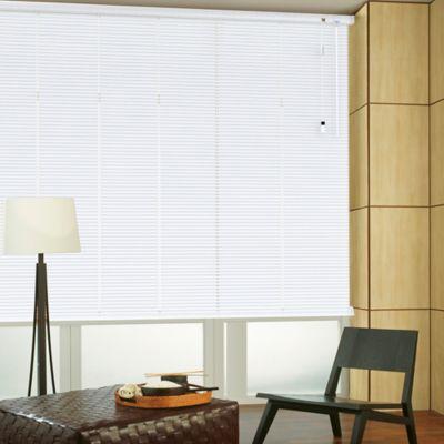 Persiana Horizontal De Aluminio 25  mm Color Blanco Gl A La Medida Ancho Entre 110.5-120  cm Alto Entre  100.5-115 cm