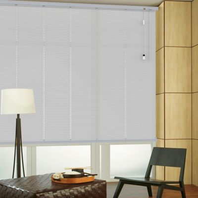 Persiana Horizontal De Aluminio 25  mm Perforado Color Natural A La Medida Ancho Entre 305.5-330  cm Alto Entre  30-100 cm