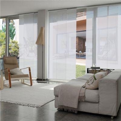 Cortina Panel Oriental Biaggio Blanco A La Medida Ancho Entre 410.5-430  cm Alto Entre  300.5-320 cm