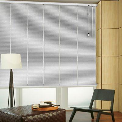 Persiana Horizontal De Aluminio 25  mm Color Silver A La Medida Ancho Entre 195.5-215  cm Alto Entre  30-100 cm