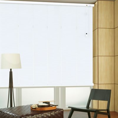 Persiana Horizontal De Aluminio 25  mm Color Blanco Mt A La Medida Ancho Entre 130.5-140  cm Alto Entre  240.5-260 cm