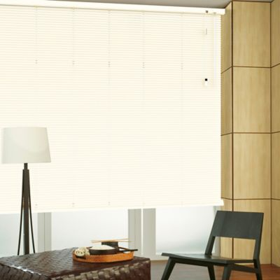 Persiana Horizontal De Aluminio 25  mm Color Algodón A La Medida Ancho Entre 195.5-215  cm Alto Entre  115.5-130 cm