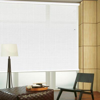 Persiana Horizontal De Aluminio 50 mm Color Blanco Mt A La Medida Ancho Entre 280.5-305  cm Alto Entre  30-100 cm