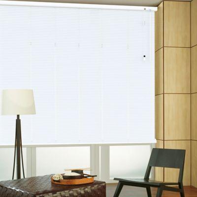 Persiana Horizontal De Aluminio 25  mm Color Blanco Mt A La Medida Ancho Entre 120.5-130  cm Alto Entre  160.5-180 cm