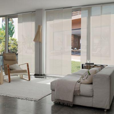 Cortina Panel Oriental Solar Screen 10 Beige A La Medida Ancho Entre 360.5-370  cm Alto Entre  260.5-280 cm