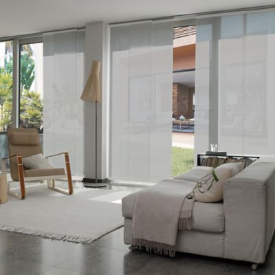 Cortina Panel Oriental Solar Screen 10 Gris A La Medida Ancho Entre 390.5-410  cm Alto Entre  260.5-280 cm