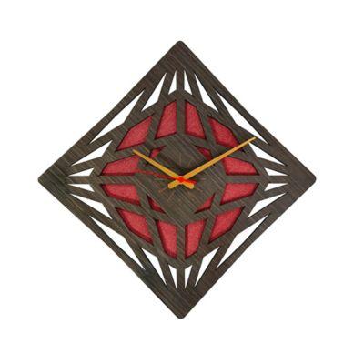 Reloj de Pared 012 34x34 cm Madera Garnica - Rojo