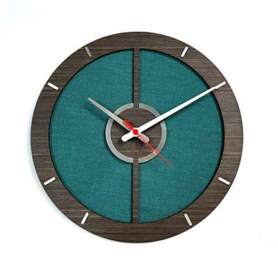 Reloj de Pared 010 34x34 cm Madera Garnica - Verde