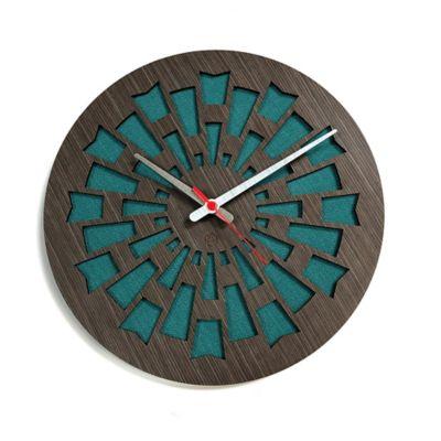 Reloj de Pared 003 34x34 cm Madera Garnica - Verde