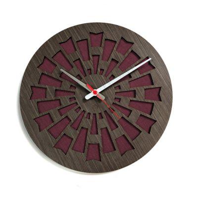 Reloj de Pared 003 34x34 cm Madera Garnica - Vinotinto