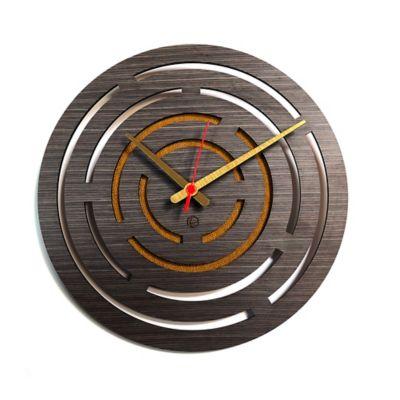 Reloj de Pared 005 34x34 cm Madera Garnica - Amarillo