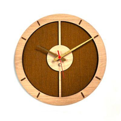 Reloj de Pared 009 34x34 cm Madera Carvalho - Amarillo