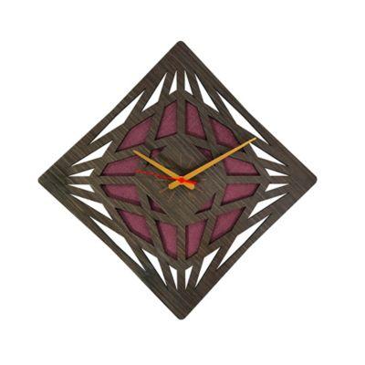 Reloj de Pared 012 34x34 cm Madera Garnica - Vinotinto