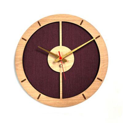 Reloj de Pared 009 34x34 cm Madera Carvalho - Vinotinto