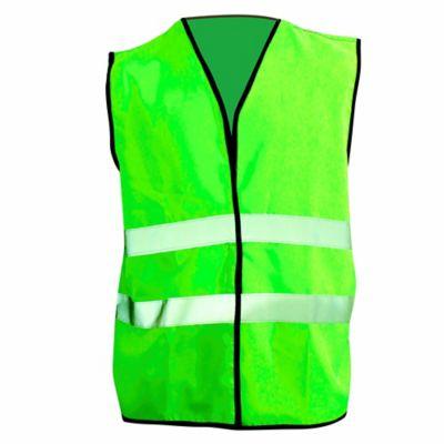 Chaleco Verde Con Reflectivo 4.5cm