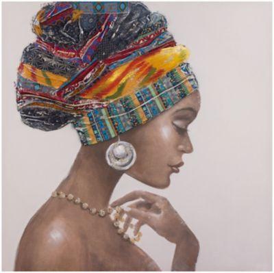 Cuadro Canvas Africana 1 80x80 cm