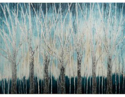 Cuadro Canvas Floral Árboles 80x60 cm
