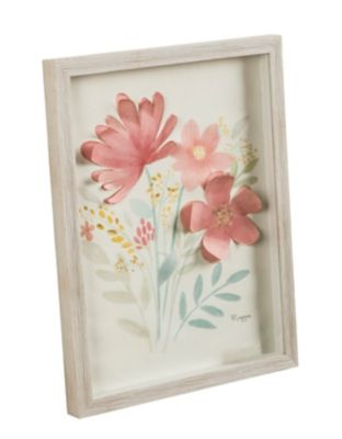 Cuadro Flor Craft Rosa 33x43 cm