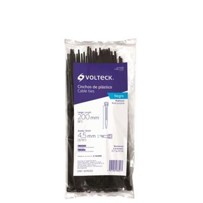 Cinchos Plásticos Tensión 50ib Negro Largo 20cm
