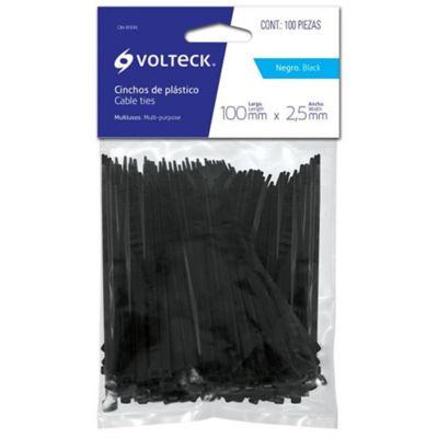 Cinchos Plásticos Tensión 40ib Negro Largo 25cm