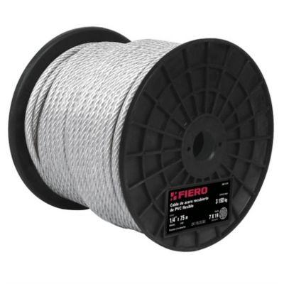 Cables Acero Recubiertos Pvc 7x7 Hilo 75m 170kg