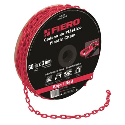 Cadena Plastica de 3mm Rojo 50m