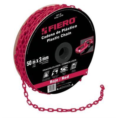 Cadena Plástica Espesor 3mm Negro 50m