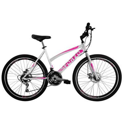 Bicicleta Dama R26 18Vel Frenos Disco Blanco