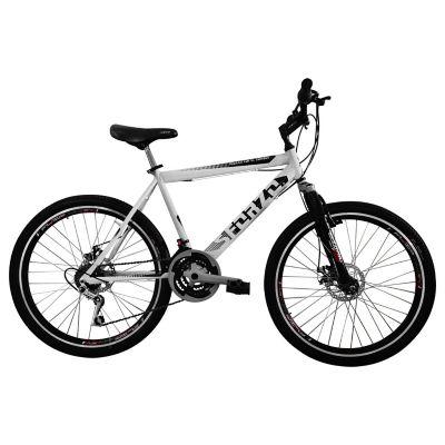 Bicicleta R26 21Vel Shimano Tipo Moto Blanco