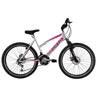 Bicicleta Dama R26 18Vel F Disco+Suspensión Blanco